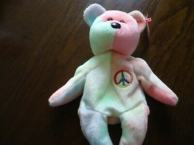 TY BEANIE BABY - ' PASTEL PEACE' - 5th GENERATION - MWMTS - AUTHENTIC • 2.50£