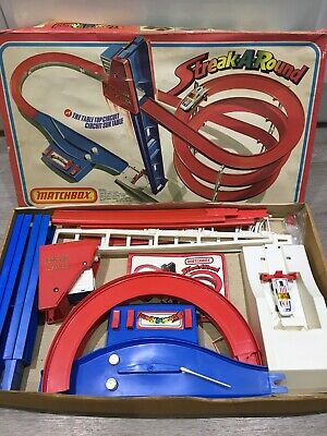 Vintage Matchbox Streak-A-Round S-900, 1970's Car Track. Rare, Working Lift  • 10£