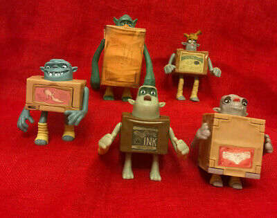 Mcdonalds Happy Meal 2013 Boxtrolls Toys Bundle Of 5 . • 10.99£