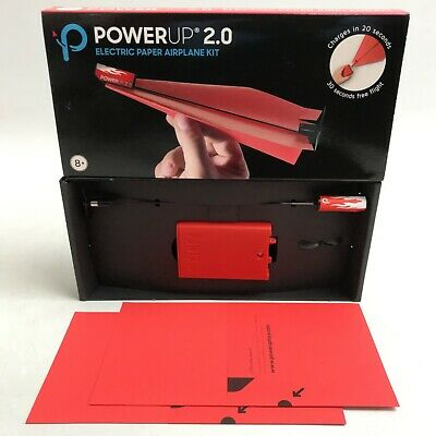 Power Up 2.0 Red Carbon Fibre Battery Powered Electric Paper Airplane Kit 431160 • 6.99£