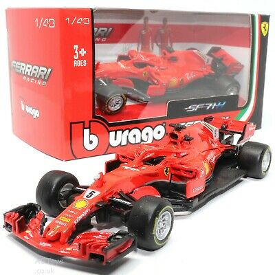 Ferrari SF71H S.Vettel #5 2018 Formula 1 Racing 1:43 Scale Model Toy Car • 9.99£