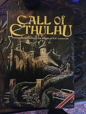 RARE! Call Of Cthulhu RPG Roleplaying Game 3rd Edition Rulebook - Chaosium 1983 • 30£