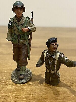 Two WW2 D-Day Single King & Country Figures British & American For Parts • 5£