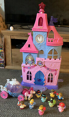 Disney Princess Fisher Price Little People Castle, People And Carriages Bundle • 30£