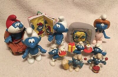 McDonalds Happy Meal - Smurf Toy Bundle - 1996 And 2002 • 12£