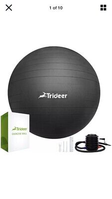 Trideer Excercise Ball Black New Boxed • 15£