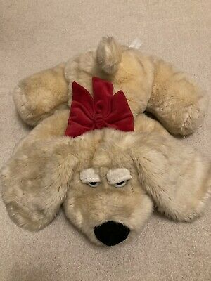 Blonde Dog Stuffed Animal With Red Bow • 1.20£