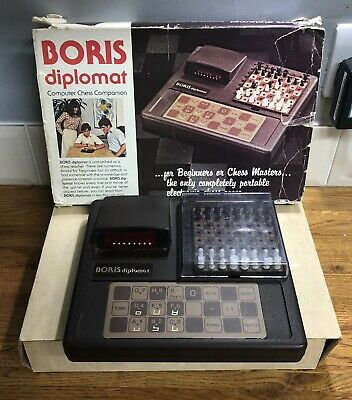 Authentic Vintage 1979 Boris Diplomat Electronic Chess Computer Boxed + Manual • 49.99£