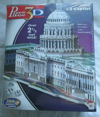 Puzz 3d Jigsaw Puzzle Of The Us Capitol Building - 764 Pieces - New/sealed • 21.99£