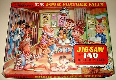 Gerry Anderson FOUR FEATHER FALLS Vintage TV Jigsaw Puzzle (1960) Boxed/Complete • 19.99£