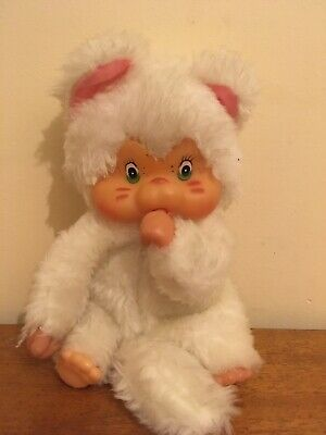 Vintage Thumb Sucking Cat White Chicaboo Type Toy • 5£