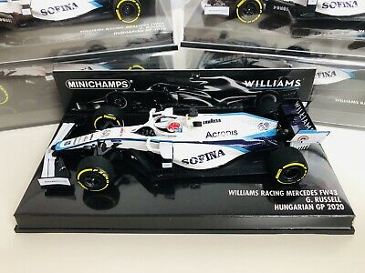 1/43 Minichamps George Russell Williams Racing FW23 2020 Hungarian Grand Prix 1 • 95£