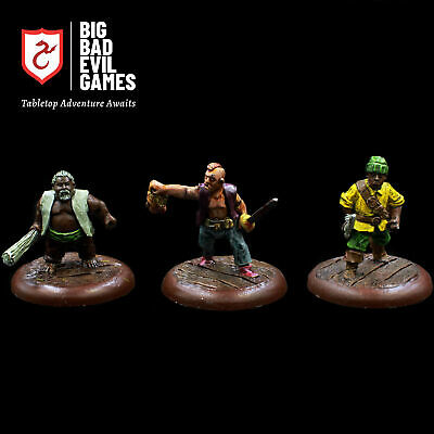 Pre-painted Pirate Miniatures Set 1 | Cast Metal And Painted Ready For D&D • 29.99£