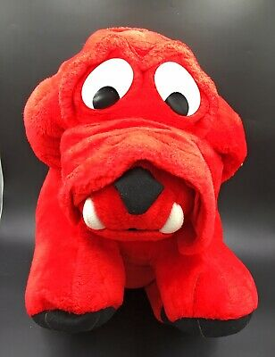 """Vintage Large Red Bulldog Soft Toy Dog 20"""" Long With Crunchy Feel Stuffing • 22.99£"""