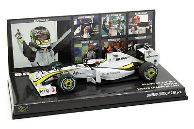 1/43 Minichamps Jenson Button Brawn GP BGP 001 2009 World Champion Lim 250pcs • 65£