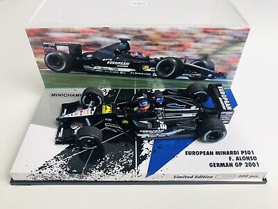 1/43 Minichamps Fernando Alonso Minardi PS01 German Grand Prix 2001 1 • 50£