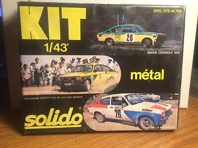 Kit Métal Opel GTE Ref 70K Solido 1/43 3 Versions Possible • 13.31£
