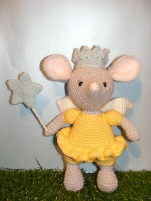 Handmade Crocheted Fairy Mouse, Soft Toy • 14£