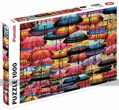 Colourful Umbrellas 1000 Piece Jigsaw Puzzle By Piatnik • 20.53£