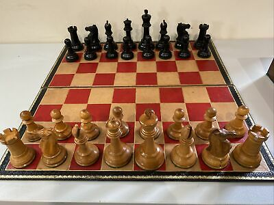Large Antique Leather Chess Board Possible By Jaques Of London • 255£