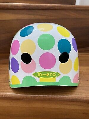 Micro Scooter Spotty Helmet Size Small 48-53cm Adjustable • 1.99£