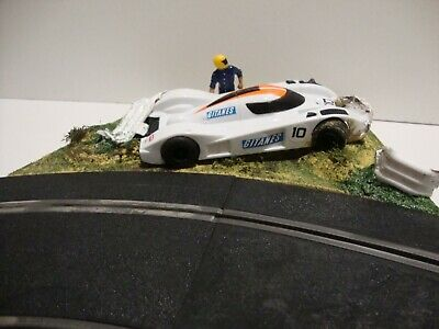 Scalextric Corner Crash Realism Scene  ....add To Your Track Well Made. • 25£
