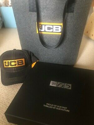 Jcb Collectors Book 65 Year Anniversary With Cap/bag • 70£