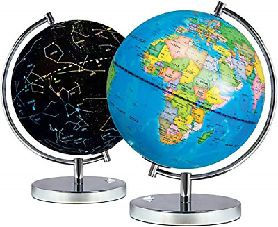 Science Kidz 2 In 1 Illuminated World Globes For Children - Light Up Night View • 31.61£