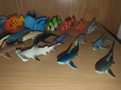 28 Shark, Whale And Fish Figures / Toy / Educational / Display • 2.50£