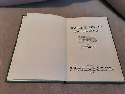 Simple Electic Car Racing Book 1st Edition  By Vic Smeed , Slot Car, Scalextric  • 11.98£