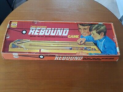 Vintage Boxed 1970s Two-Cushioned REBOUND Game By Ideal Games. • 19.99£