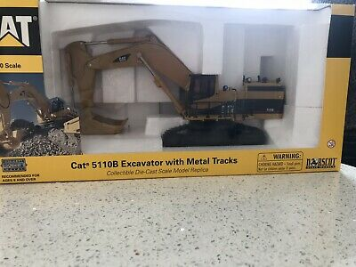 CAT 5110B Tracked Excavator Precision Die Cast 1:50 Scale Model Boxed Norscot • 50£