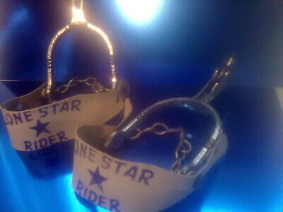 LONE STAR ,    LONE STAR RIDER   SPURS SET , C 1950's VERY GOOD+ CONDITION.S99 • 19.99£