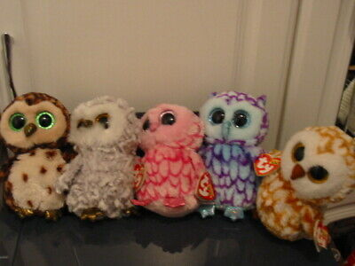 5 X Ty Beanie Boos Owl Bundle - With Tags • 8.50£