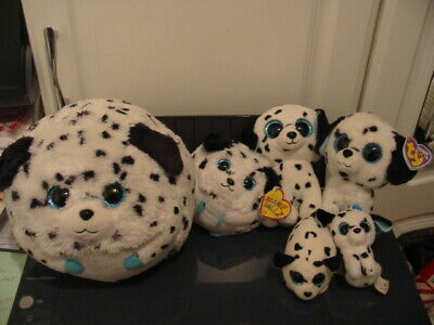 6 X Ty Beanie Boos Dalmation Dog Bundle • 8£