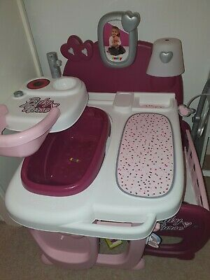 Smoby Toy Baby Changing Station Care Station Pink Bath Bed Highchair Etc • 29.70£