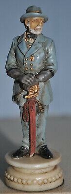 US Civil War Chess Piece - General Lee ' King Piece ' Hand Painted • 7.10£