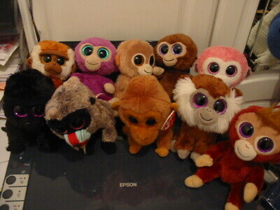 10 X Ty Beanie Boos Monkey Bundle • 17£