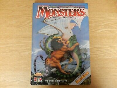 Monsters RuneQuest Fantasy Roleplaying H/B Book 1987 Games Workshop Chaosium • 10£