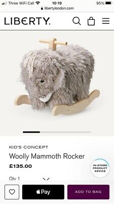 Kids Concept Woolly Mammoth Rocker Rocking Horse • 0.01£