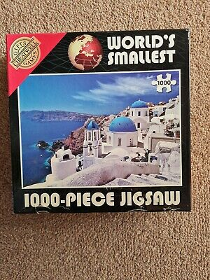 World's Smallest Jigsaw Puzzle 1000 Pieces Santorini Island Greece Seascape • 3£
