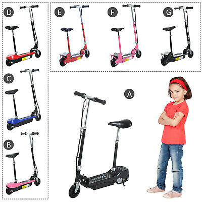 Kids Electric E Scooter Ride On Battery Children Toy Adjustable Seat 120W 500W • 104.99£