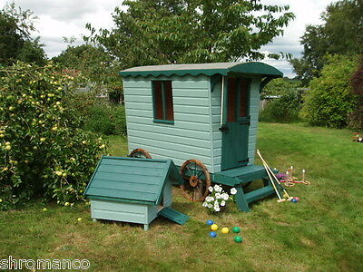 New Wooden Romany Caravan Playhouse - NEW Painted Or Unpainted • 1,070£