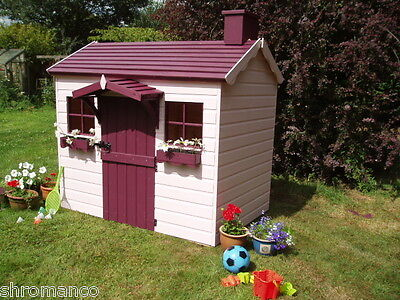 New Wooden Country Cottage Playhouse - NEW Painted Or Unpainted • 587£