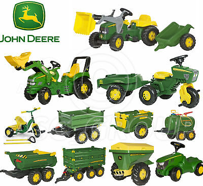 Rolly Toys - John Deere Pedal Tractors Trailers Loader Tanker Trike Spreader NEW • 106.74£