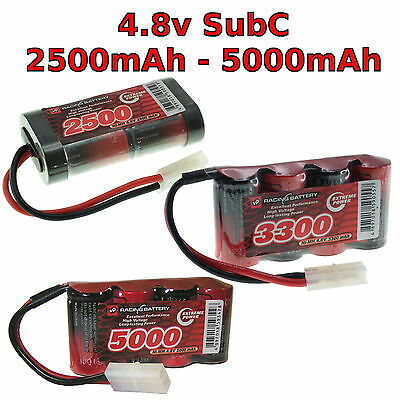 4.8V 2500-5000mAh SubC SC Premium Racing RC NiMh Battery Pack + Custom Connector • 19.75£