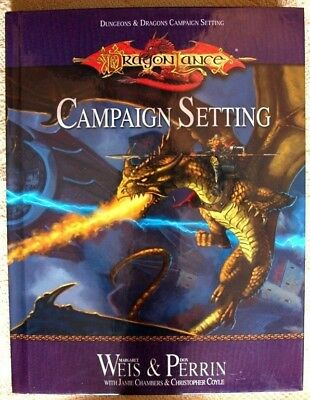 Dungons & Dragons Campaign Setting Dragon Lance Book NEW • 9.99£