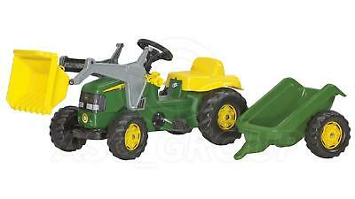 Rolly Toys -  John Deere Ride On Pedal Tractor With Loader & Trailer Age 2 1/2 + • 96.74£