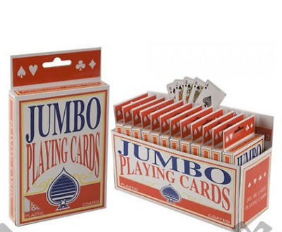 Jumbo Playing Cards Deck Extra Large Cards Playing Cards Pack Of 52 New • 1.88£