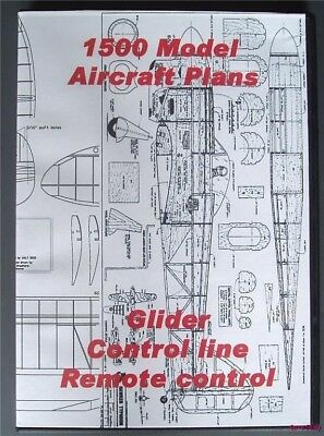 DVD ROM Of 1500 Flying Model Aircraft Plans Balsa Wood • 6.75£